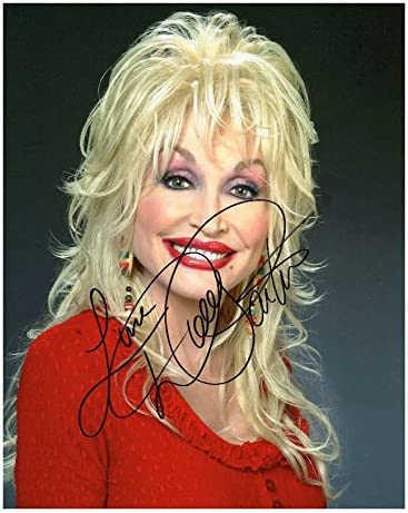Present Gift Collectible Dolly Parton #2 Photo Display Machine Cut 10x8 Size to Fit 10x8 Inch Frames Signed Mounted Photo Reprint