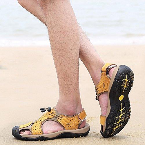 Sandali Uomo Trekking Scarpe Pelle Pescatore Cachi Mare Spiaggia Nero Escursionismo Hafiot Marroni Sportivi Antinfortunistica 47 Estivi 38 Morbido Antiscivolo qAdwqx5C