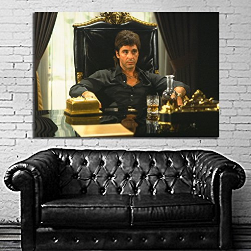 #27 Poster Canvas Movie Scarface Mob Gangster 36x48 inch  Ca