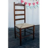 Dixie Seating 143401-OG-47436-O-177636 42 in. Woven Seat Ladderback Chair Medium Oak, Beige