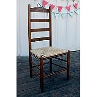 Dixie Seating 143401-OG-47436-O-177636 42 in. Woven Seat Ladderback Chair Medium Oak, Beige