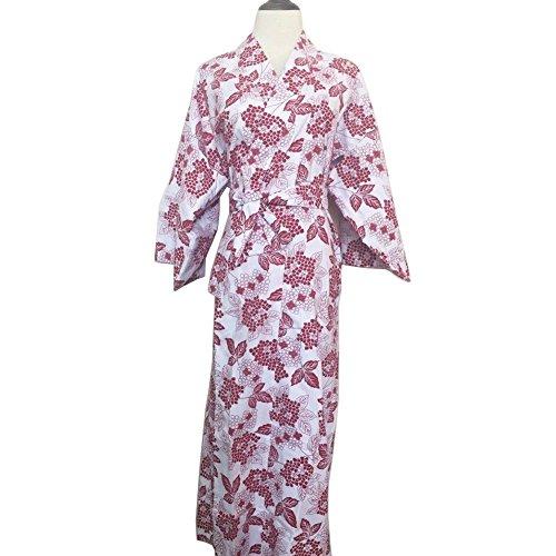 Women Kimono Yukata Cotton Japanese Floral Bathrobe Robe Nightwear Soft Pajamas (M) ()