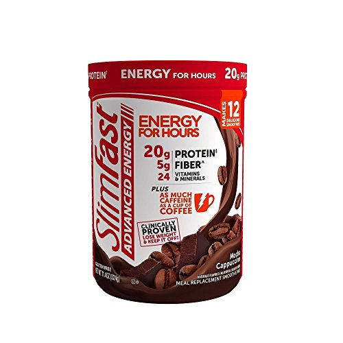 SlimFast Advanced Energy Mocha Cappuccino Smoothie Mix Powder - Meal Replacement Shake  -  11.4oz. (324g) Canister ()