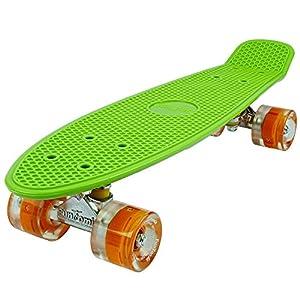 FunTomia® Mini-Board 57cm Skateboard mit oder ohne LED Leuchtrollen inkl....