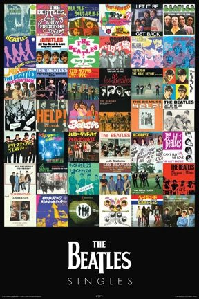 Beatles Singles Album Covers Rock Music Poster 24 x 36 inches