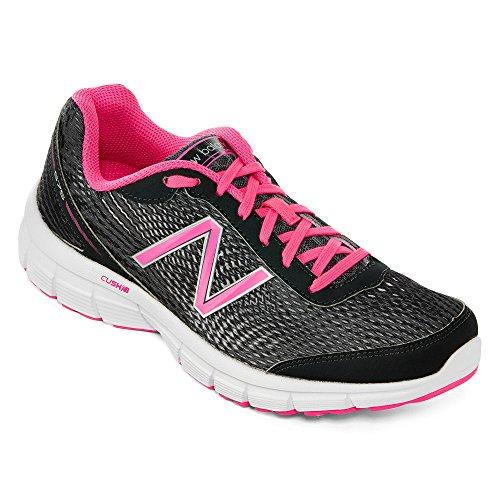 New Balance - Zapatillas de running para mujer gris y rosa