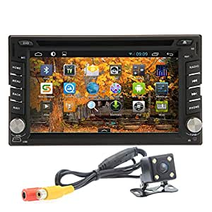 "OUKU?Rear Camera Included 2015 Best Sellers 3D Android 4.2 Double Din 6.2""- inch Capacitive Touch Screen Car Stereo DVD Player Radio In Dash GPS Nav"