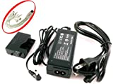 iTEKIRO AC Adapter Power Supply Kit for Canon ACK-E5, 3071B002, 3072B001; Canon EOS 450D, EOS 500D, EOS 1000D, EOS Kiss F, EOS Kiss X2, EOS Kiss X3, EOS Rebel T1i, EOS Rebel XS, EOS Rebel XSi DLSR Cameras + iTEKIRO 10-in-1 USB Charging Cable