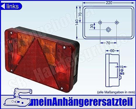Radex Links Multifunktionsleuchte Rückleuchte Rücklicht 5800 5800 10 Links Auto