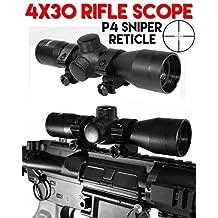 Trinity 4x30 Rifle Scope P4 Sniper Reticle for Rap4 T68 Paintball Gun Black, Paintball Gun Scope, Paintball Gun Sight Black.