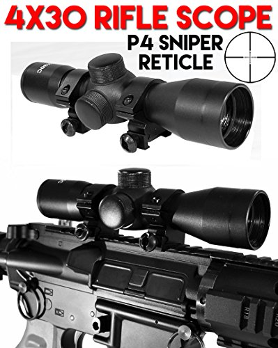 cope P4 Sniper Reticle for Rap4 T68 Paintball Gun Black, Paintball Gun Scope, Paintball Gun Sight Black. (T68 Pistol)