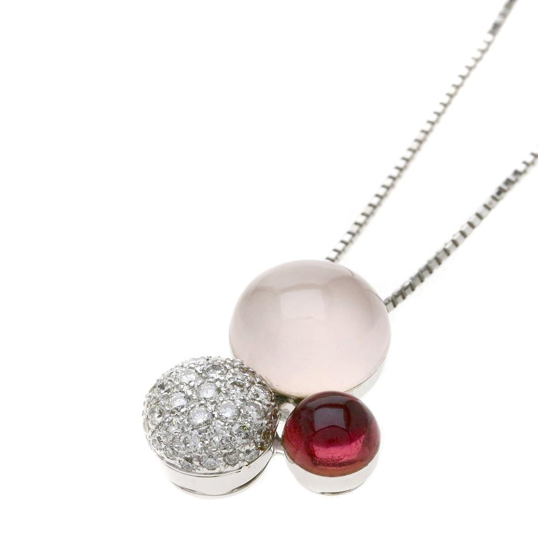 [セレクトジュエリー]クオーツ ダイヤモンド ネックレス K18ホワイトゴールド レディース (中古) B07C58WN3M