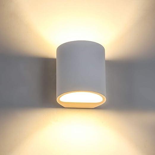 SHYOSUCCE Aplique de Pared Interior de Yeso con 3W G9 LED Bombillas de Reemplazable, Moderna Lámpara de Pared Blanco Cálido para Salón, Dormitorio, Escalera, Pasillo: Amazon.es: Iluminación