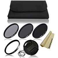 49mm Professional Lens Filter Accessory Kit for Sony NEX-5R, NEX-3, NEX-5, NEX-6, NEX-C3, NEX-5N, NEX-7, NEX-F3, NEX-VG10, NEX-VG20, NEX-VG30, NEXFS100, NEX-FS700, NEX-EA50E Interchangeable Lens Camera (with E-Mount 18-55mm, 30mm, 16mm, 24mm, 55-210mm, 50mm Lenses). Includes: ND Neutral Density Filter Set (ND2, ND4, ND8) + UV Protection Filter + Center Pinch Lens Cap + Filter Wallet Pouch Bag + JB Digital Microfiber Lens Cleaning Cloth