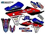 Senge Graphics 2008-2014 Yamaha YZ 125/250 (2-Stroke), Ricochet Blue Graphics Kit