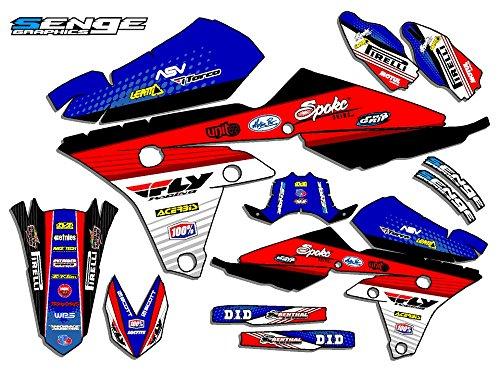 Senge Graphics 2006-2018 Yamaha TTR 50, Ricochet Blue Graphics Kit (Graphic Ttr50 Kit)