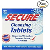 Secure Cleansing Tablets 32 tabs (3 boxes of 32)