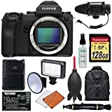 Fujifilm GFX 50S Medium Format Digital Camera Body with 128GB Card + Battery & Charger + LED Light & Flash + Microphone + Backpack + Kit