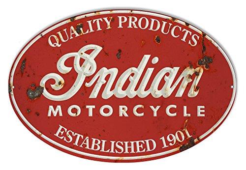 (Indian Motorcycle 1901 Series Vintage Metal Sign 9x14 )