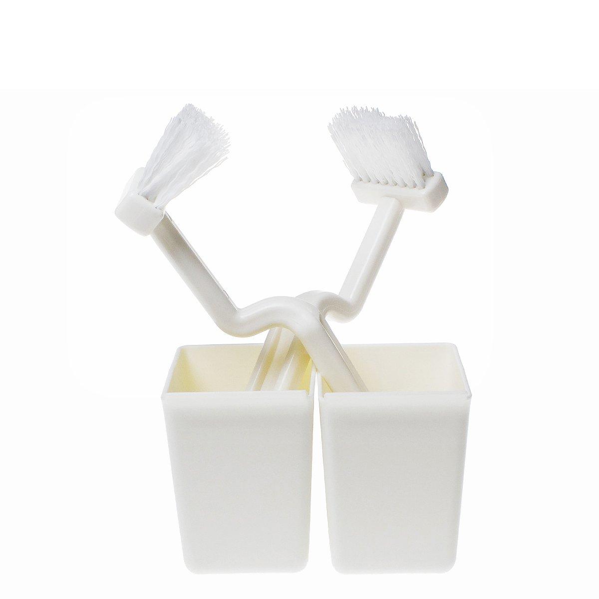 Saimホワイト多目的プラスチックハンドルナイロンブラシwith Suction Base forトイレキッチンバスルームセットの2 B06XYLFRYS