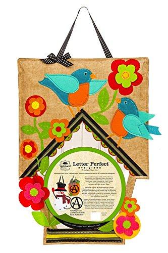 Birdhouse Monogram Burlap Door Decor by (Evergreen Enterprises Birdhouse)