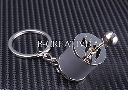 B-Creative - Llavero con diseño de palanca de cambios de 6 ...