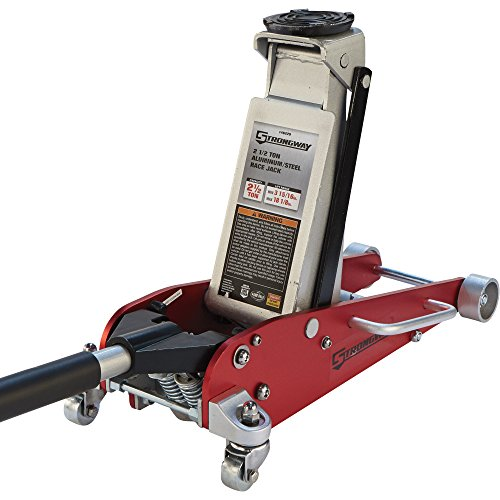 Strongway Hydraulic Aluminum/Steel Quick Lift Service Jack - 2 1/2-Ton Capacity, 3 15/16in.-18 1/8in. Lifting Range by Strongway (Image #7)