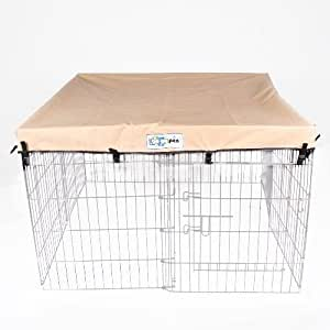 4' x 4' GoGo Pet Products Exercise Pen UV Top / Cover Tan