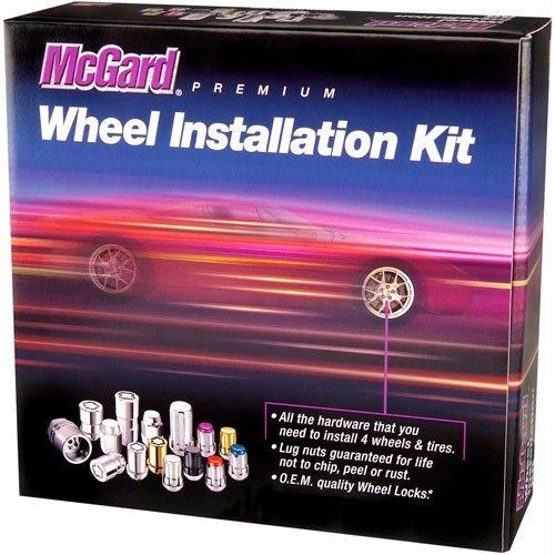 (McGard 65557GD Chrome/Gold Tuner Style Spline Drive Lug Nut Kit M12 x 1.5 Thread)