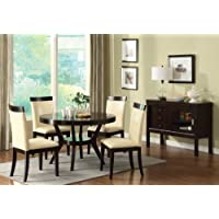 Furniture of America Galore 5-Piece Round Table Dining Set, Espresso