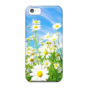 High Grade MichelleNCrawford Flexible Tpu Case For Iphone 5c - Daisies Flowers