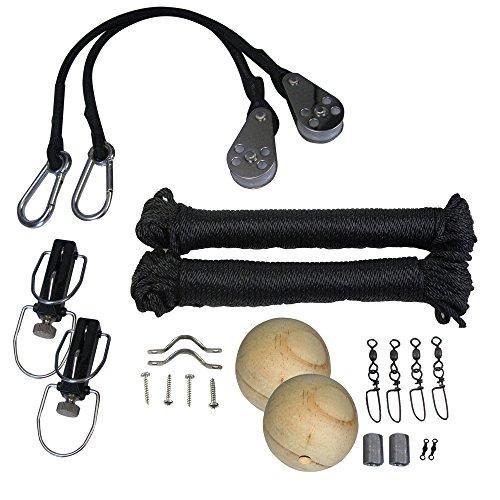 (Taco Metals TACO Premium Rigging Kit Black f/1 Pair Outriggers)