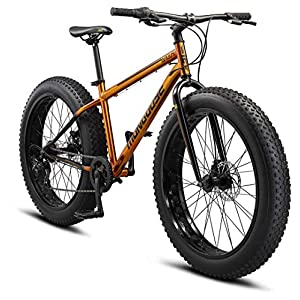 Mongoose Argus and Argus ST Kids/Youth/Adult Fat Tire Mountain Bike, 20-26-Inch Wheels, Mechanical Disc Brakes, Multiple Colors