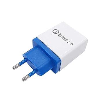 vobome Portátil 3 Puertos USB Cargador rápido Herramienta de Carga del teléfono (Azul)