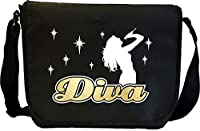 Vocalist Singing Diva Lady Micro - Sheet Music Document Bag Musik Notentasche...