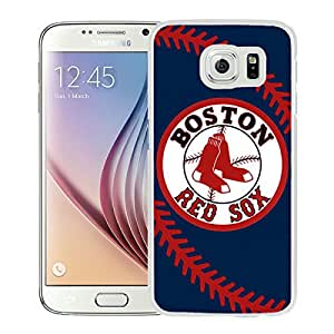 Boston Red Sox White New Design Samsung Galaxy S6 G9200 Protective Phone Case