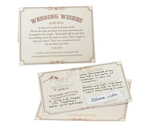 Lillian Rose Guest Book Alternative Tan Wedding Advice Cards