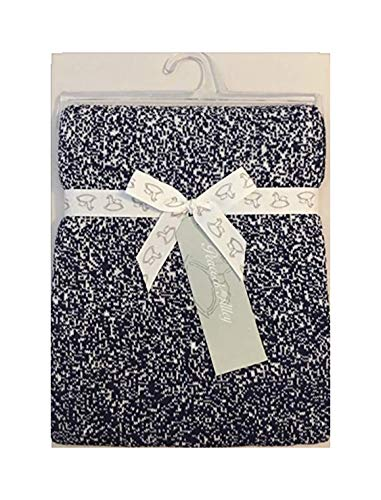 Peacock Alley Navy Confetti Baby Blanket