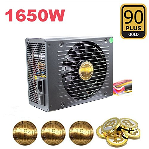 600W 1650W 90 Plus Gold Mining Power Supply For 6 GPU ETH Ethereum Mining Rig