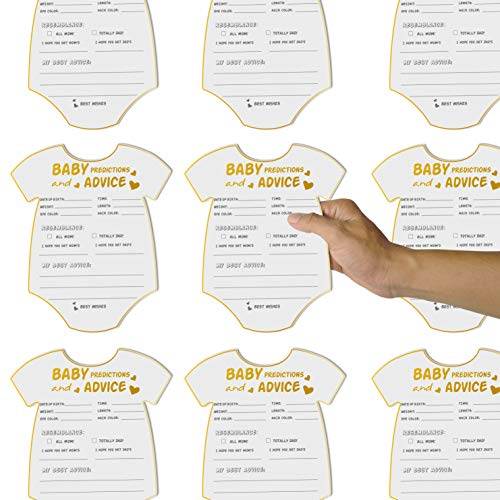 50 Advice and Prediction Cards for Baby Shower Game,Gender Neutral Boy or Girl,Fun Baby Shower Games Favors,New Parent Message Advice Book,New Mom & Dad Card or Mommy & Daddy To Be - 5x6inch Photo #3