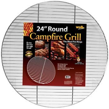 - 1 X Round Campfire Grill Grid for Fire Rings 24-inch