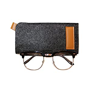Glasses Case, Soft Felt Case Protects & Stores Sunglasses, Reading Glasses and Other Eyewear for Women, Men, and Children by Magnar