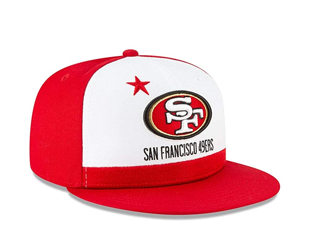 8a6302ae4c2ede Amazon.com : New Era San Francisco 49ers 9FIFTY NFL Official 2019 Draft  Snapback Hat : Clothing