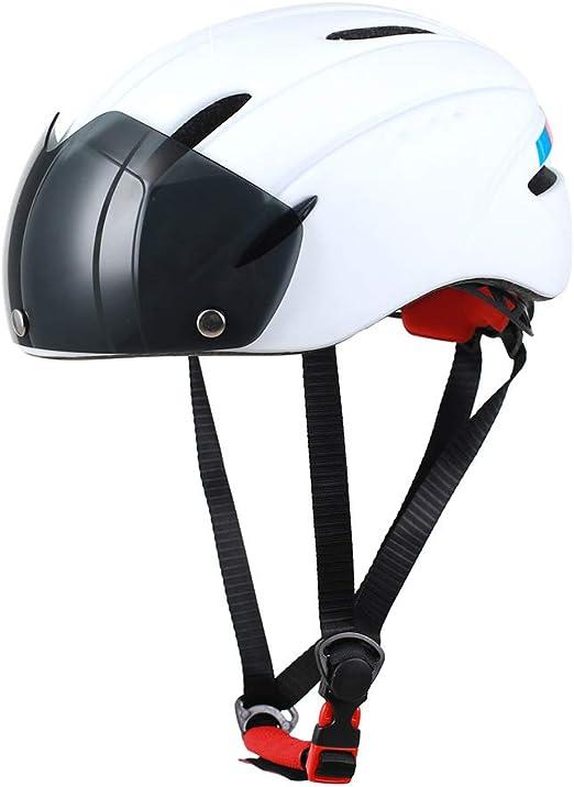 LISI Gafas de Tipo magnético Casco Moldeado Integral Bicicleta ...
