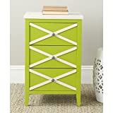 Cheap Safavieh American Homes Collection Sherrilyn Lime Green 3-Drawer Side Table