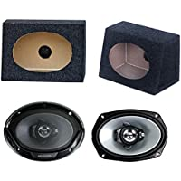 2) New Kenwood 6x9 400W Car Audio Speakers + 2) 6x9 Speaker Box Enclosures