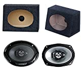 2) New Kenwood 6x9'' 400W Car Audio Speakers + 2) 6x9'' Speaker Box Enclosures