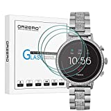 (3 Pack) Orzero for Fossil Women's Gen 4 Q Venture HR Smartwatch Tempered Glass Screen Protector, 2.5D Arc Edges 9 Hardness HD Anti-Scratch Bubble-Free (Lifetime Replacement Warranty)