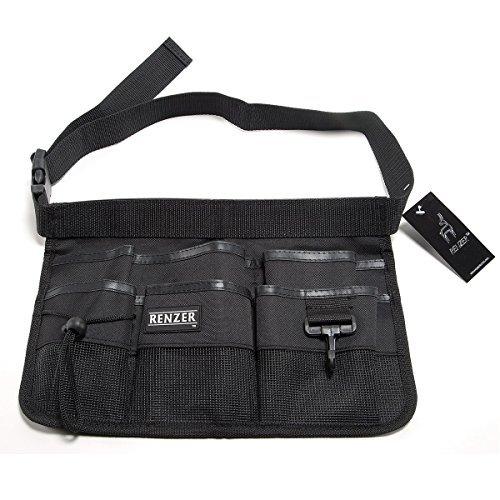 RENZER Heavy Duty Oxford Tool Apron With Waist Belt 7 (Three Pouch Pocket Waist Apron)