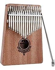 17 Key Kalimba Thumb Piano,Portable Mahogany Wooden Body Musical Instrument